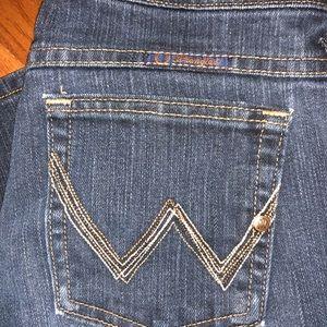 Wrangler bootcut jeans.